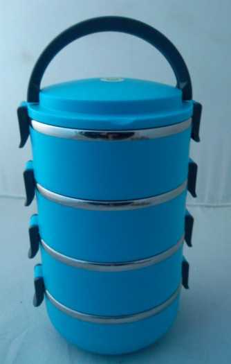 3 layers Plastic lunch box with handle/food container