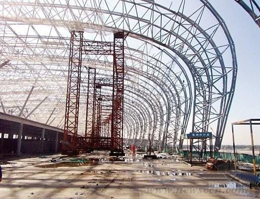 Prefabricated Warehouse Steel Building Tube Truss Steel Structure