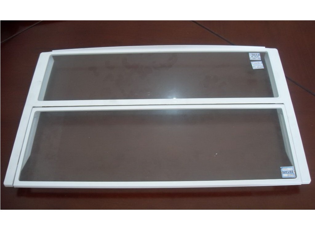 Glass Inserted Injection Mould and Part for Refrigerator Freezer Shelf
