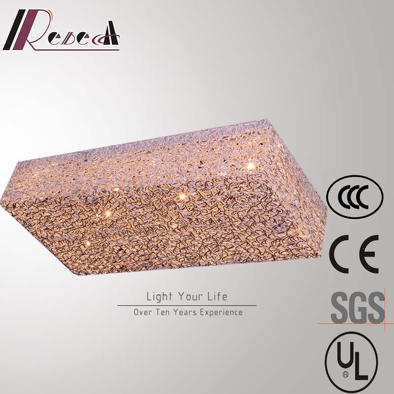 Modern Hotel Decirative G4 Aluminum Square Ceiling Lamp