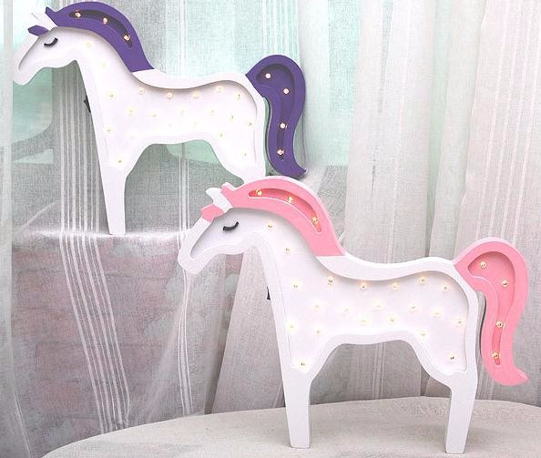 Animal Unicorn Led Wall Lamp
