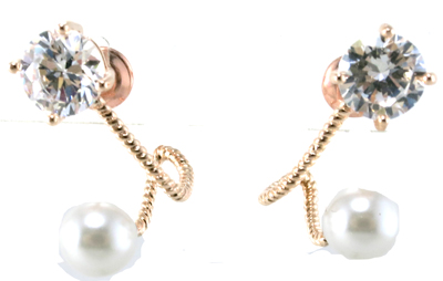 New Design for Woman's Pearl Earring 925 Silver Jewelry (E6536)