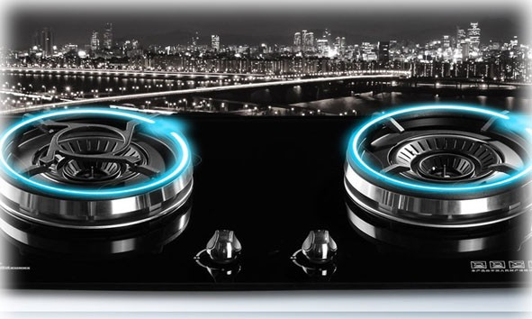 Double Burner Stoves Glass Design
