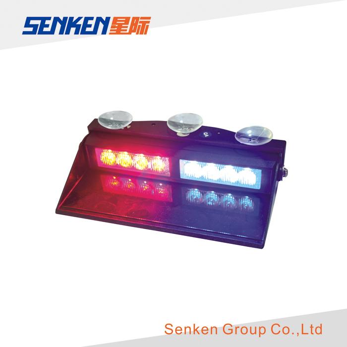 Vehicle LED Visor Warning Lights