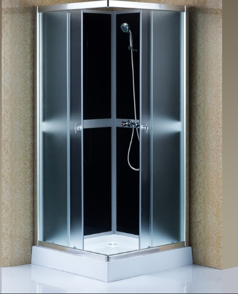 Square Grey Glass 90*90cm Shower Enclosure (ADL-880)