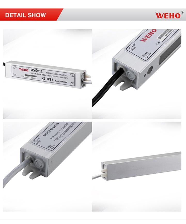 IP67 Constant Voltage 20W 1.65A LED Driver 12V