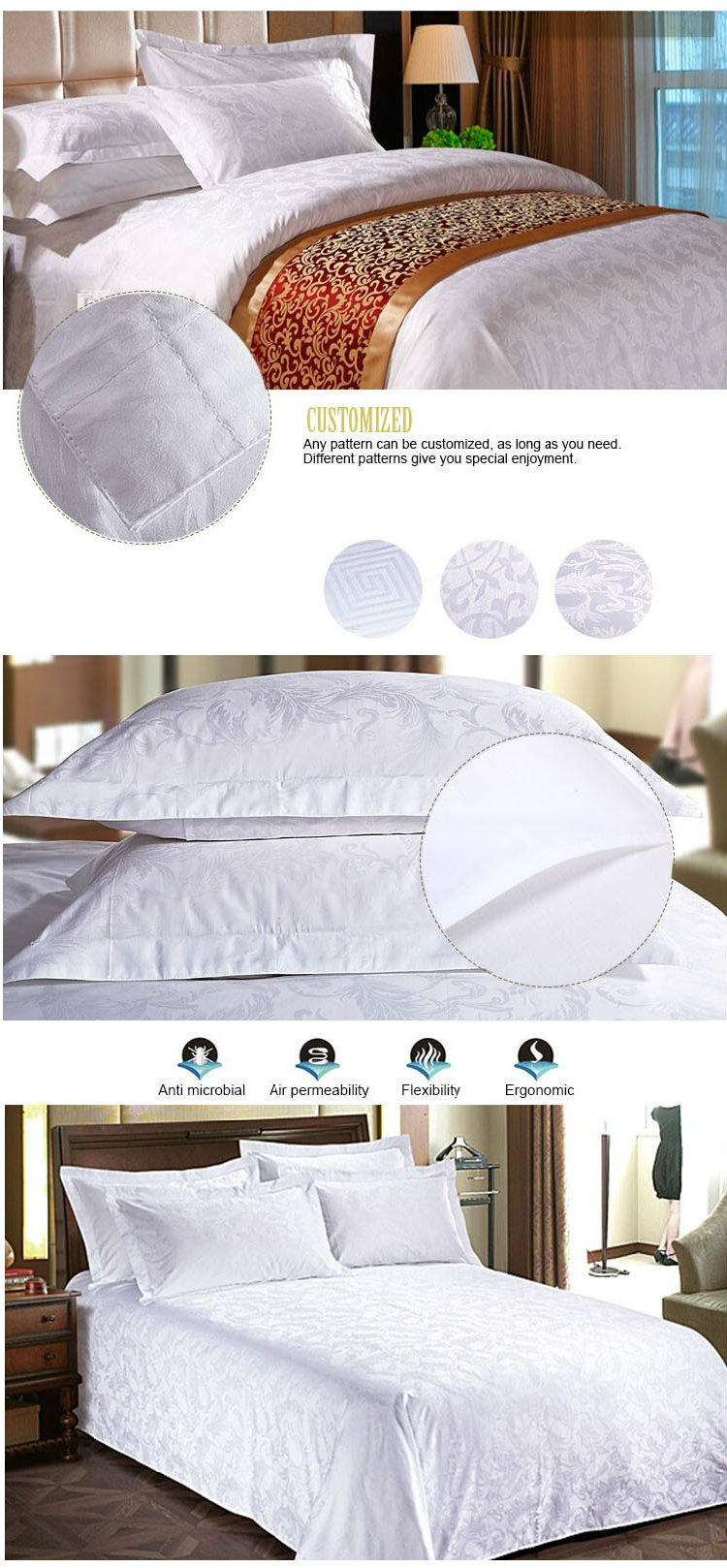 Hot Sale Factory Directly Supply Used Hotel Bedding Linen