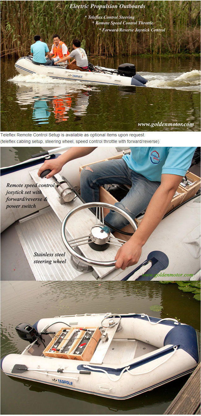 3HP Electric Boat Motor, Electric Outboards for Fishing Boat