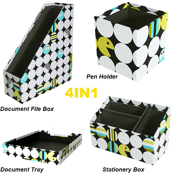 Multi-Function 4in1 Home /Office Stationery Storage Organizer Box
