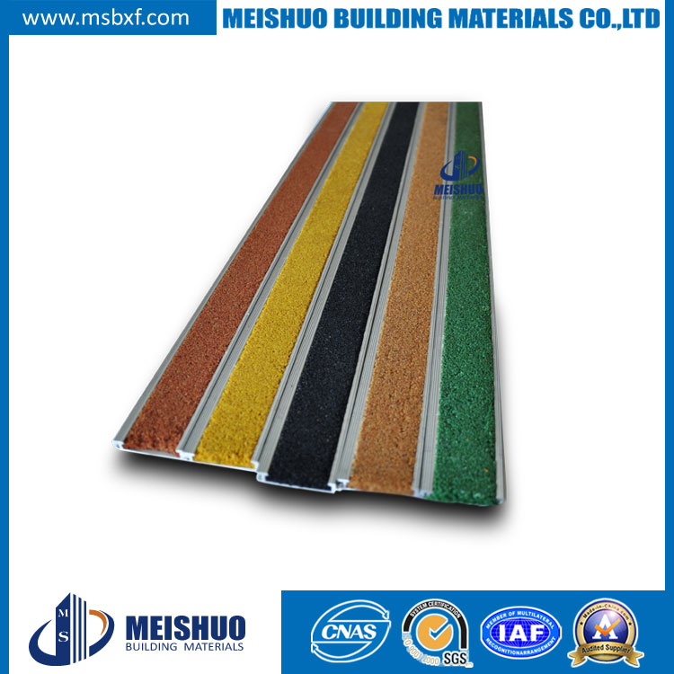 Carborundum Inserted Aluminum Stair Nosing