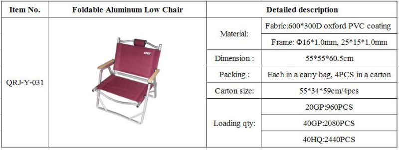Wood Armrest Fishing Outdoor Camping Foldable Folding Chair