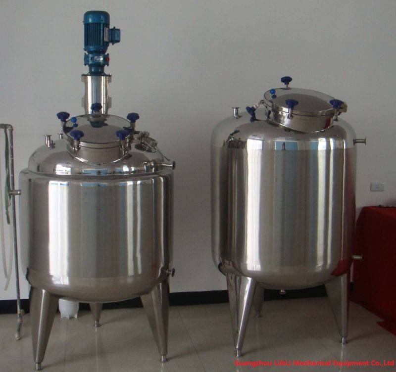 Stainless Steel Mixing Tank with Mechanical Agitator