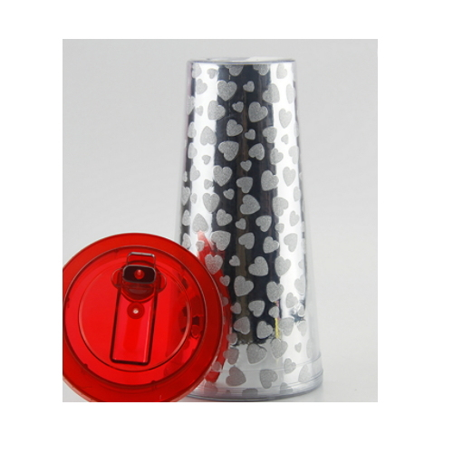 Factory Wholesale Cheap Plastic Tumbler with Cover