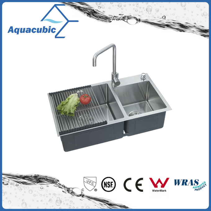 Best Price Double-Bowl Man-Made Stainless Steel Sink (ACS8245A2)