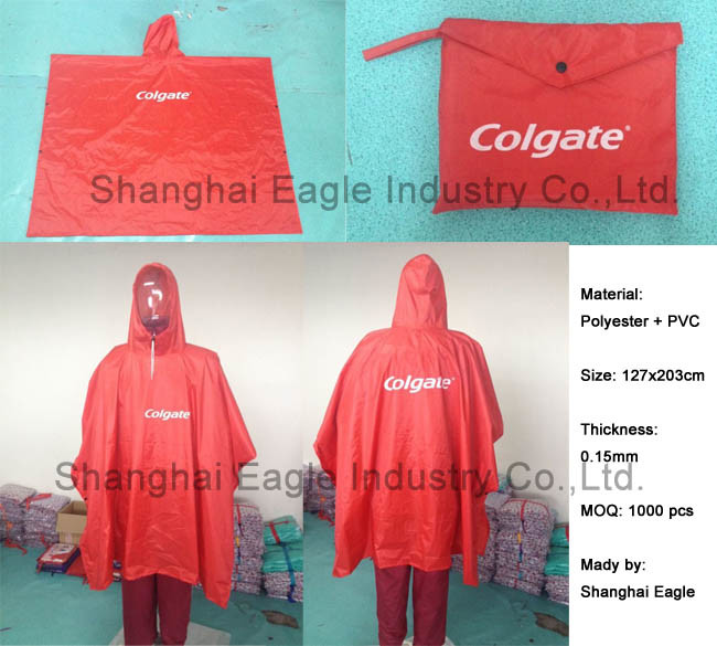 Hooded Outdoor Waterproof PVC Raincoat