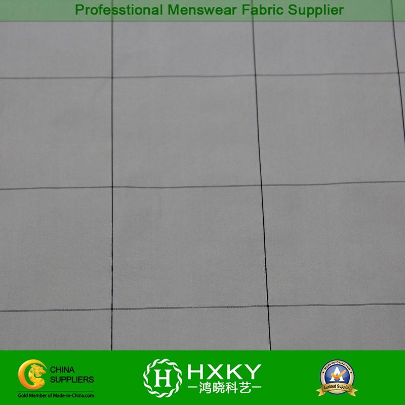 Checks Plain Dyed Memory Polyester Fabric for Men's Wind Breaker