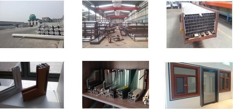 Powder Coated/Alloy Anodizing/Electrophoretic/Thermal Break/Wood-Grain/Industrial Extruded/Aluminum/Aluminium Extrusion Profile to Make Doors and Windows
