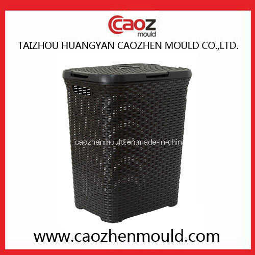 Plastic Injection Laundry Basket Mould with Rattan Design