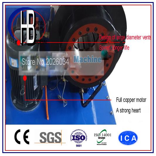 Best Quality Ce 1/4''~2''finn Power Hydraulic Hose Crimping Machine