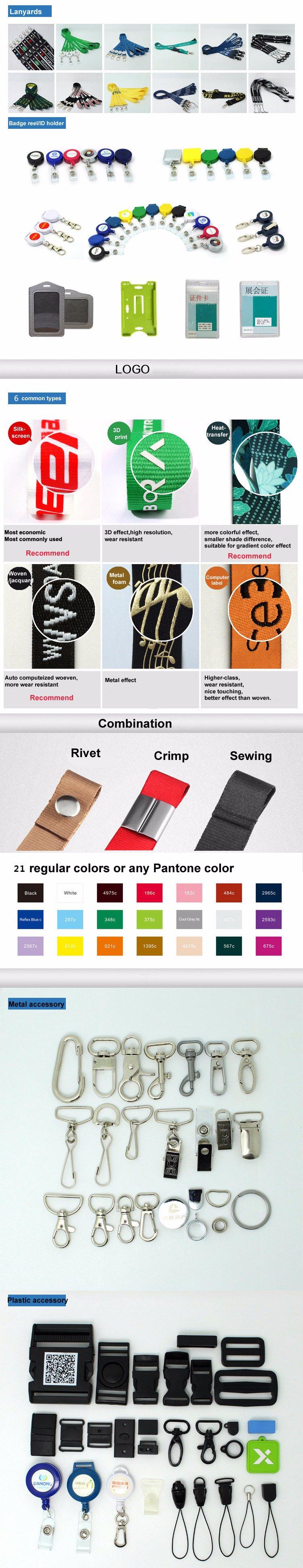 Discount Price 3D Silkscreen Printed/Printing Logo Custom Lanyard for Sale