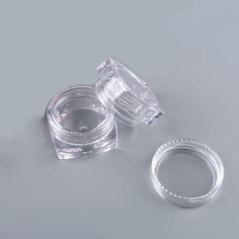 Square Empty 3ml 5ml Cream Plastic Jar (NJ06)
