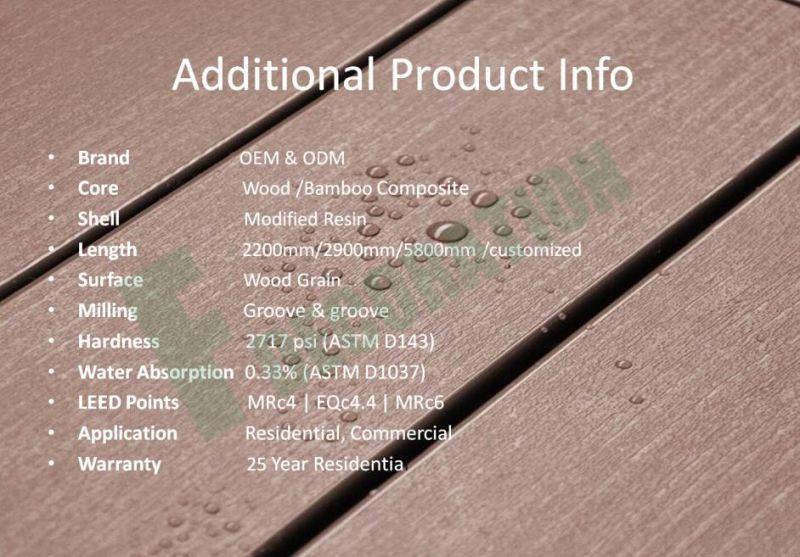 Outdoor Co-Extrusion Wood Plastic Composite Laminate WPC Flooring