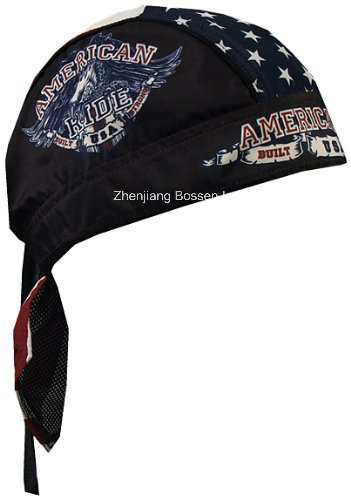 OEM Produce Customized Logo Paisley Red Cotton Sports Bandana Head Wrap
