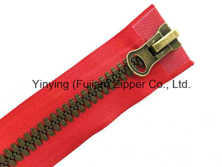 No. 8 Plated Bronze Europen Style Plastic Zipper Two Way Open Zipper
