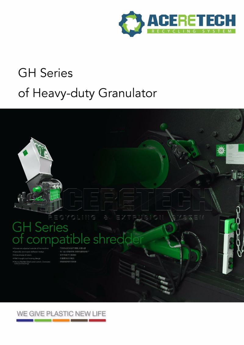 Heavy-Duty Shredder Granulator for Pipe Film Bottle