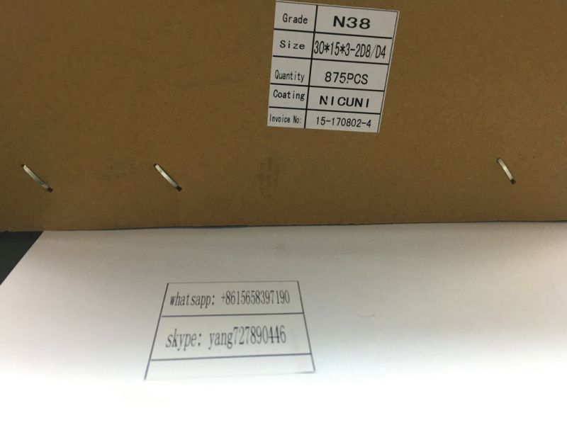 countersunk black magnet 30X15X3 D4/D8 neodymium magnet