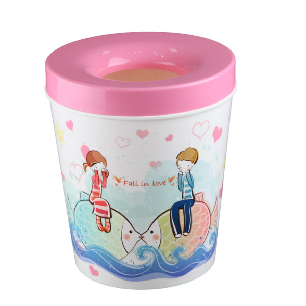 Cartoon Printing Fashionable Toilet Pail /Paper Basket (FF-5212)