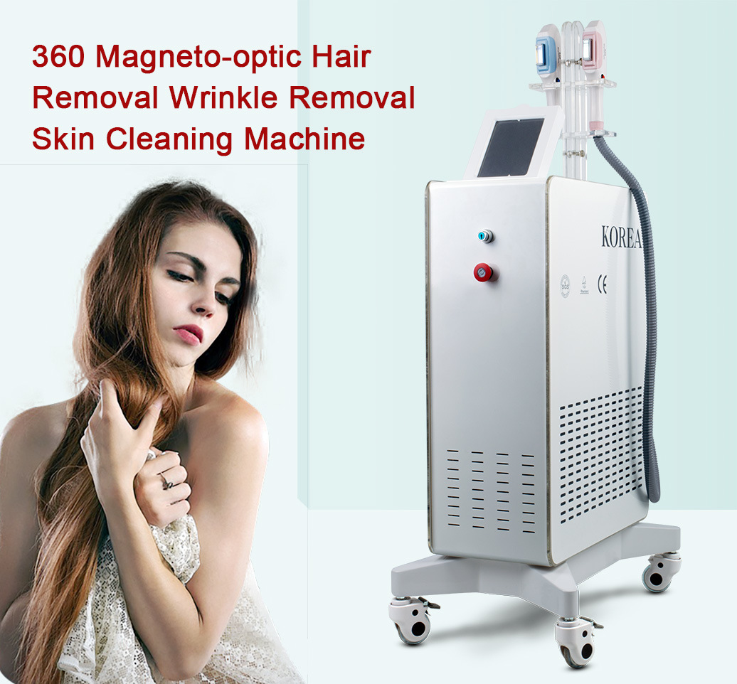 Straight Handle 360 Magneto-Optic Hair Removal Handle + Tender Skin Special Handle Hair Removal Machine