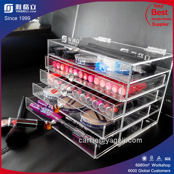 2016 Hot Sale 3 Drawer Acrylic Makeup Organizer