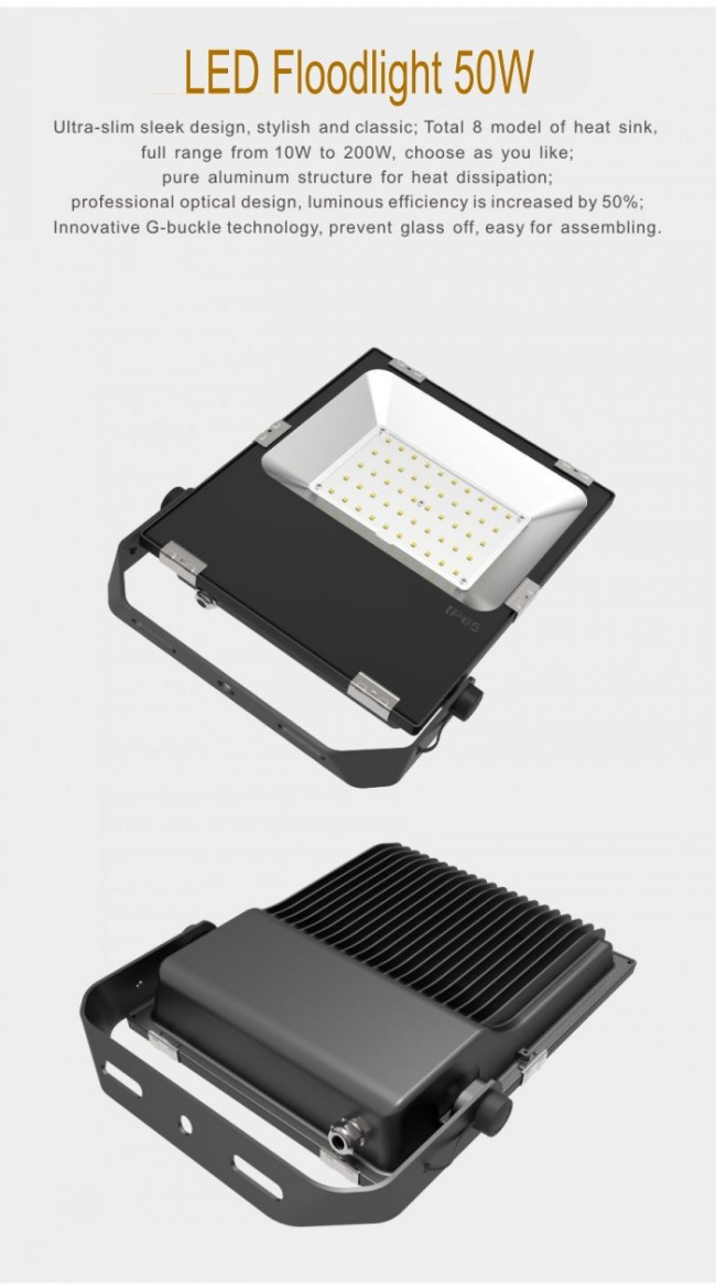 High Power 50W LED Flood Light 5000lm Orsam SMD3030 IP65