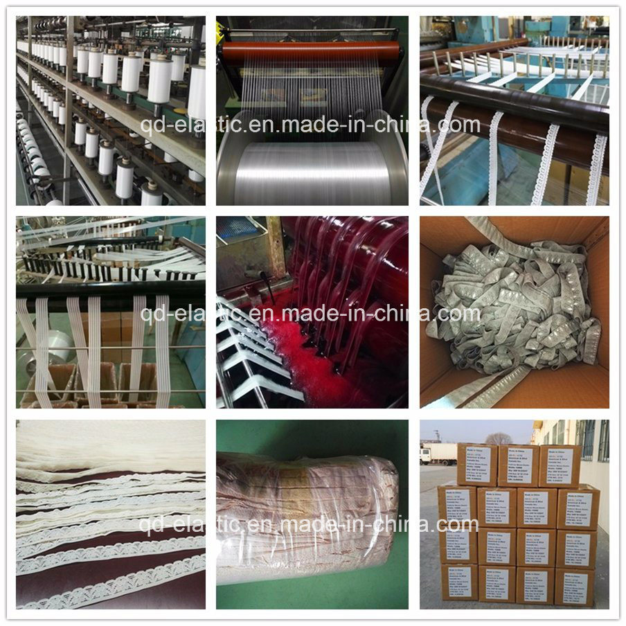 Jacquard Stretchy Elastic Lace Trims for Lingerie (stocking)