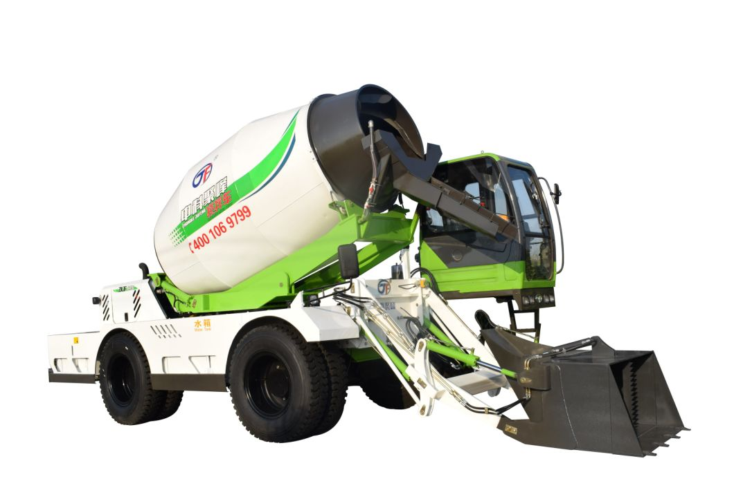 Model Jbc65 6.5 Cube Meter Self-Loading Moveable Concrete Mixer Truck