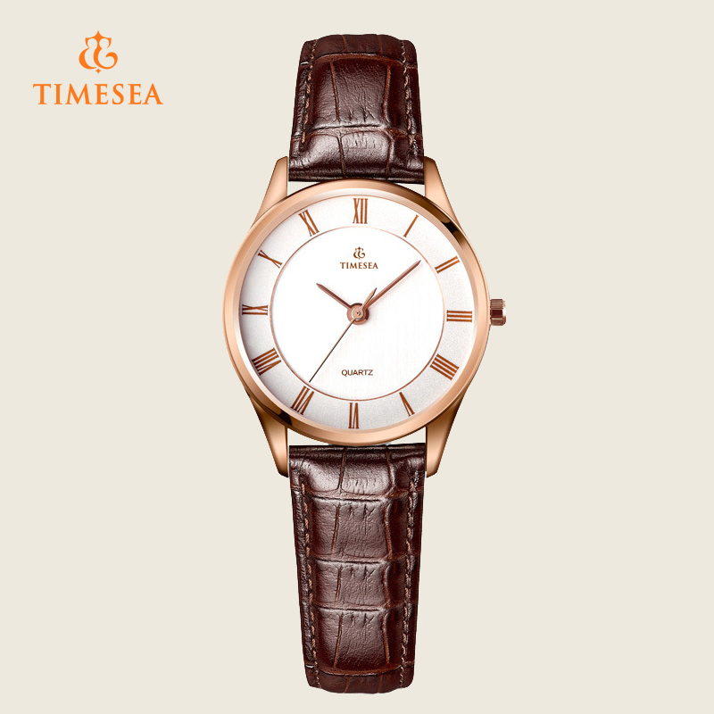 Women's Fashion Leather Stainless Steel Quartz Wrist Watch 71115