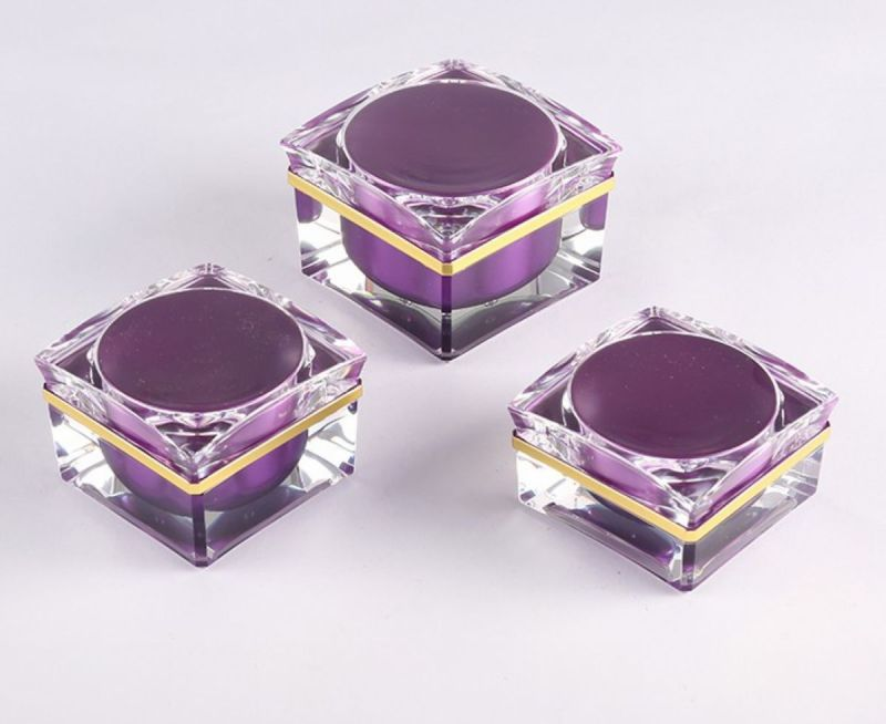 15g 30g 50g Unique Purple Acrylic Face Cream Jar