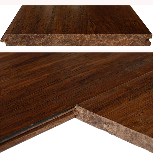 Antique Distressed Click Strand Woven Bamboo Flooring