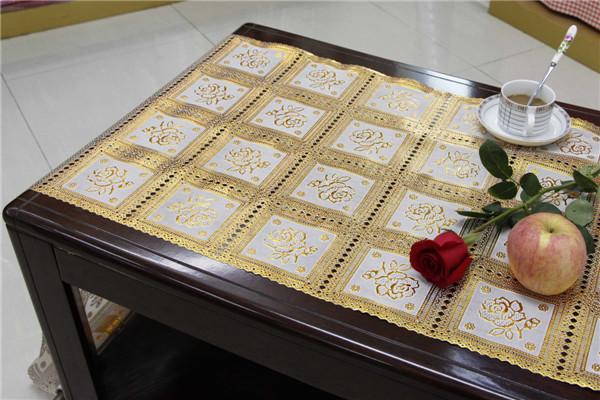 PVC 50cm Golden Long Lace Doily