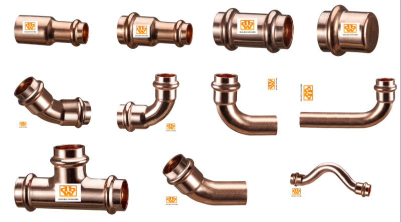 Copper Press V Profile 90 Elbow, From 15mm to 108mm
