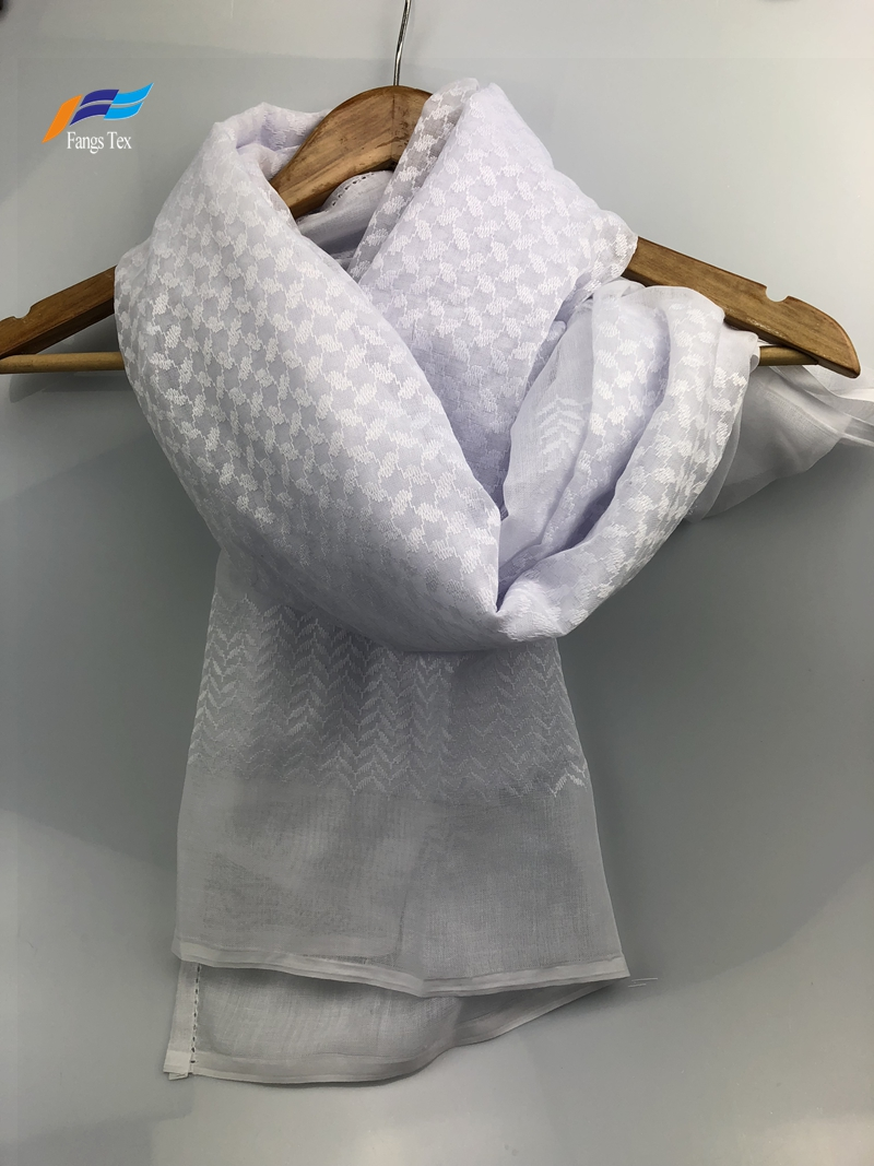 Crinkle Cotton Muslim Embroidered Mesh Shawls Hijab Scarf 3