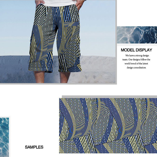 Polyester Brushed Digital Printing Beach Wear Fabric