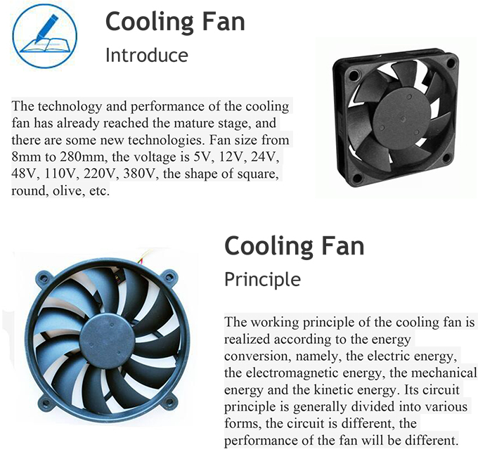 China High Quality DC 18V 2200rpm Cooling Fan