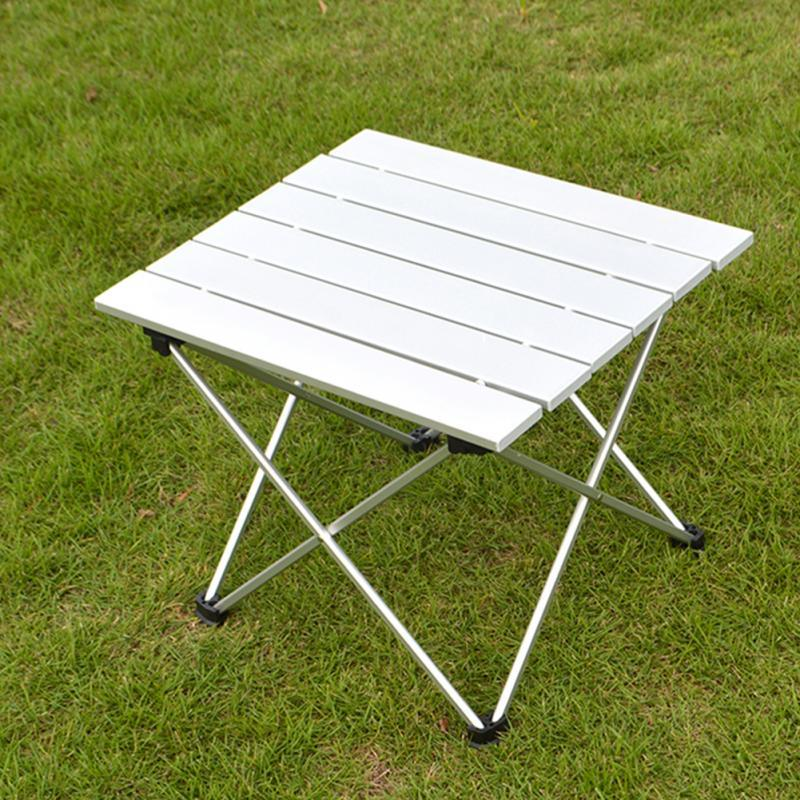 EL Indio Aluminum Folding Collapsible Camping Table Roll up with Carrying Bag for Indoor and Outdoor Picnic, BBQ, Beach, Hiking, Travel, Fishing