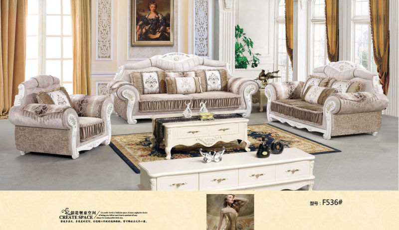 Fabric Sofa, Royal Sofa, Europe Sofa (F536)