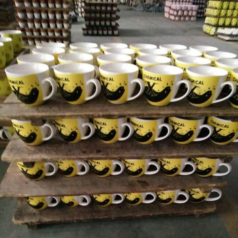2016 Custom Printing Company Logo Porcelain Mug Ceramic Coffee Cup Red Mug