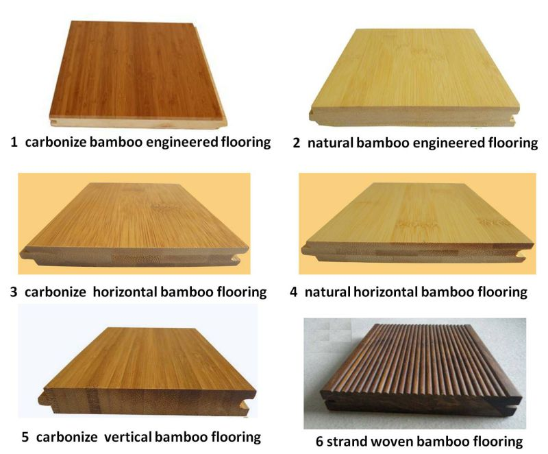 Horizontal Natural Color T&G Bamboo Flooring