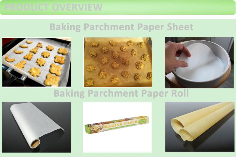 Custom Logo Printed Baking Paper Non-Stick Parchment Sheets Food Wrapping