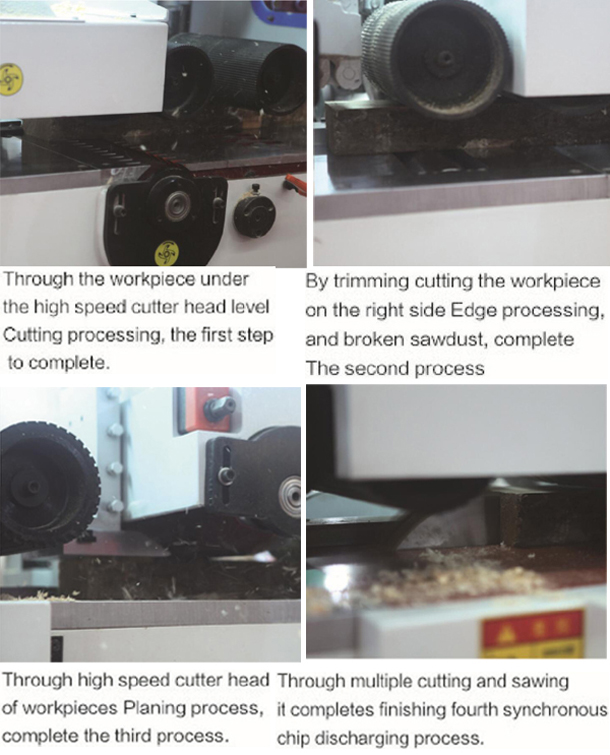 Multifunctional Woodworking Machine Planer with Multiple Saws